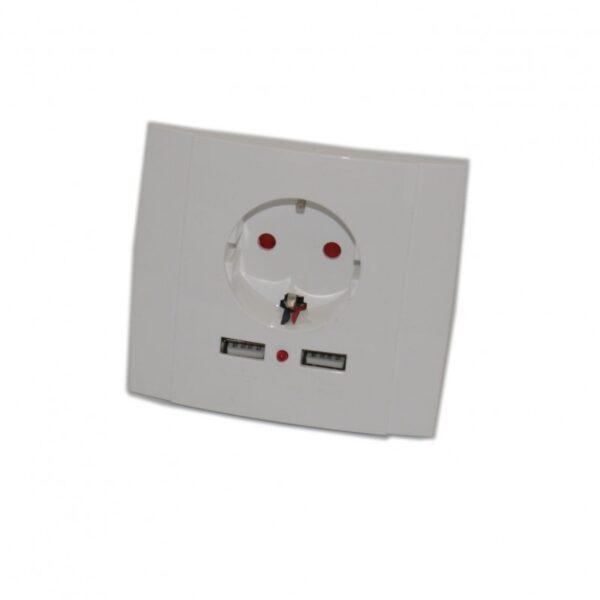 ΠΡΙΖΑ ΣΟΥΚΟ ΜΕ 2 ΘΥΡΕΣ USB AC-LI-867