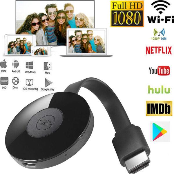 Ασύρματο HDMI Dongle Προβολής Αρχείων PC, τηλεφώνου σε TV ANDOWL ELECTRONISTAS.GR