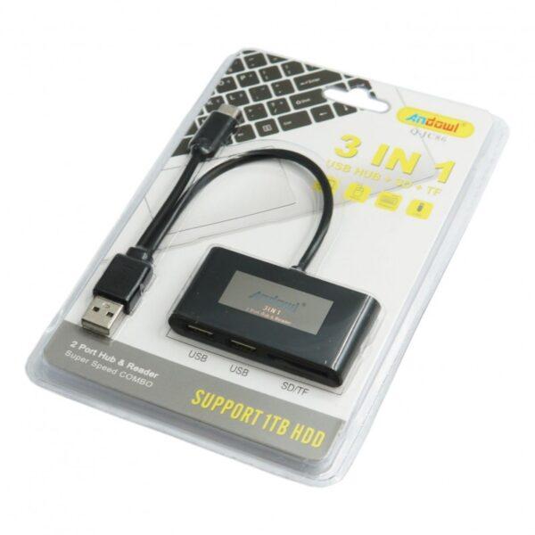 3 ΣΕ 1 USB UB + SD + TF ANDOWL AN-Q-JC86