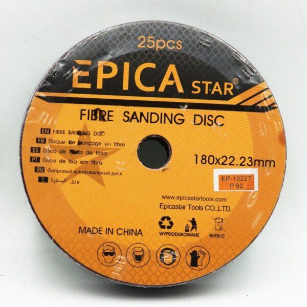 ΔΙΣΚΟΣ ΓΥΑΛΟΧΑΡΤΟ Ρ60 180*22.23mm EPICA STAR- electonistas.gr