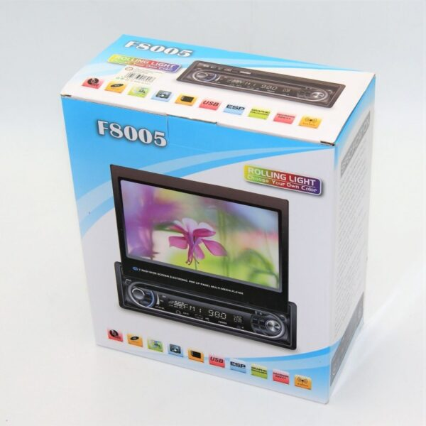 7'' WIDE SCREEN ELECTRONIC POP UP PANEL MULTI MEDIA PLAYER AU-AC-F8005