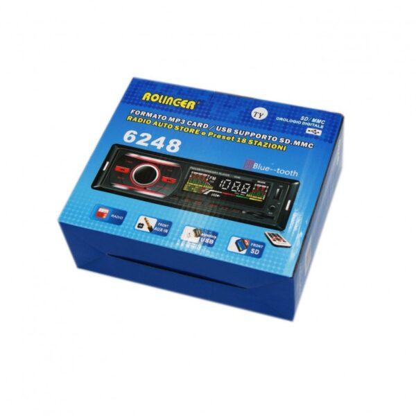ΗΧΟΣΥΣΤΗΜΑ ΑΥΤΟΚΙΝΗΤΟΥ FM MP3 USB SLOT SD AUX RADIO STEREO AU-SP-6248