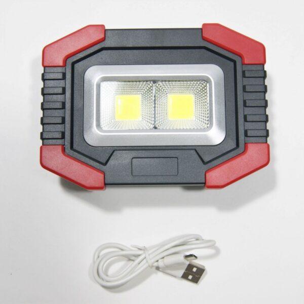 ΕΠΑΝΑΦΟΡΤΙΖΟΜΕΝΟΣ ΠΡΟΒΟΛΕΑΣ LED 6W 2xCOB ΜΕ micro-USB AU-LI-3589