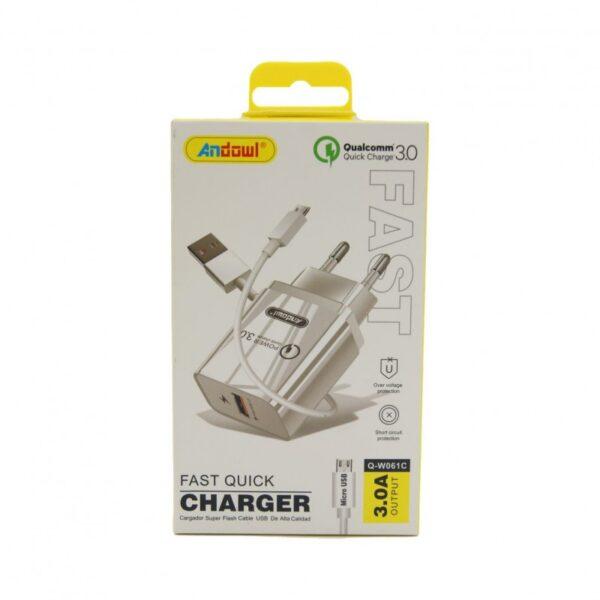 ΓΡΗΓΟΡΟΣ ΦΟΡΤΙΣΤΗΣ Micro USB 3.0A ANDOWL AN-Q-W061C