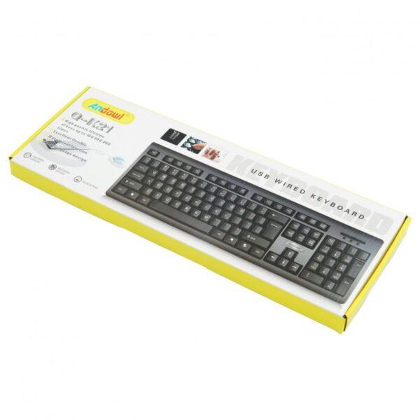 ΕΝΣΥΡΜΑΤΟ ΠΛΗΚΤΡΟΛΟΓΙΟ USB ANDOWL AN-Q-K21