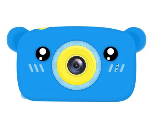 Επαναφορτιζόμενη παιδική κάμερα μπλε αρκουδάκι QK6 ANDOWL electronistas.gr