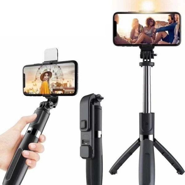 Selfie stick – L02s Τρίποδο Κινητού με Bluetooth Μαύρο electronistas.gr