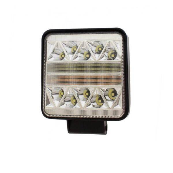 LED προβολέας αδιάβροχος τετράγωνος διασποράς 38 SMD 102W 12V/24V IP67 10200LM 6000K electronistas.gr