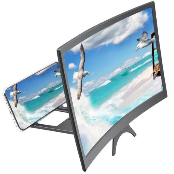"""Μεγεθυντικός φακός οθόνης κινητών 12"""" 3D HD Με Βάση electronistas.gr"""