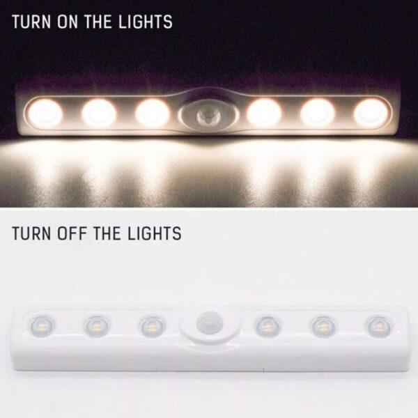 Mini Πλαστικό Φωτιστικό LED Λευκού Φωτισμού με Ανίχνευση Κίνησης Andowl electronistas.gr