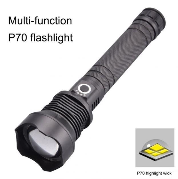 Επαναφορτιζόμενος Φακός Υψηλής Φωτεινότητας 2500 Lumens με Zoom electronistas.gr