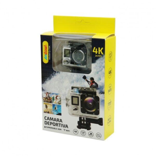 ACTION CAM 4K 24FPS ULTRA HD ANDOWL 70K electronistas.gr